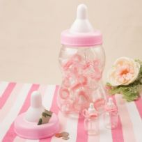 Perfectly Plain Giant Pink Baby Bottle & Money Box